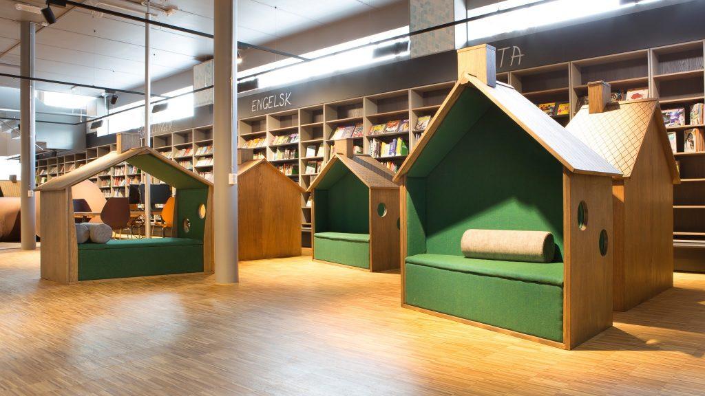 Realisatie van bibliotheekinrichting  met vernieuwend...